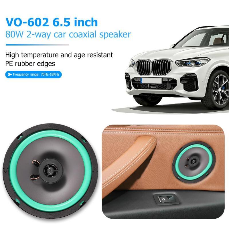 VO 602 6,5 дюймов 80 Вт 2 сторонний автомобильный коаксиальный динамик Авто Аудио Музыка громкий динамик автомобильный Стайлинг Универсальная автомобильная аудиосистема Коаксиальные колонки    АлиЭкспресс
