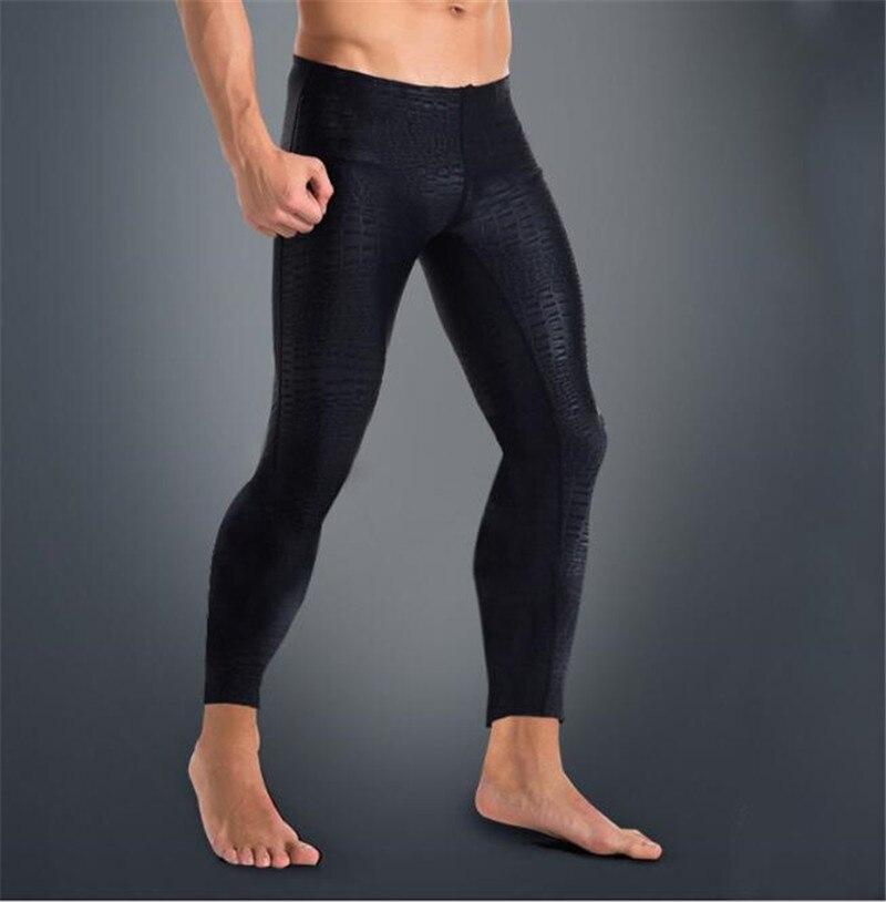 SBART Men Leggings Anti-UV Lycra Rashguard Full Length Black Fitness Swim Surf Pants Quick Dry Rash Guard Tight Pant