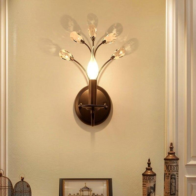Industrial Wall Light Bedroom: Retro Industrial Wall Lamp Vintage Crystal Light Simple