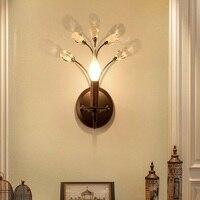 Retro przemysłowe lampy ścienne w stylu Vintage kryształ światła prosta salon sypialnia lampki nocne kinkiety lampy światła korytarz schody światło w pomieszczeniach wystrój w Wewnętrzne kinkiety LED od Lampy i oświetlenie na