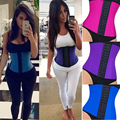 2017 Fashion Latex Waist Cincher Steel Boned Waist Trainer Corset Underwear Slimming Shaper Bodysuit Trainer Exercise Corset