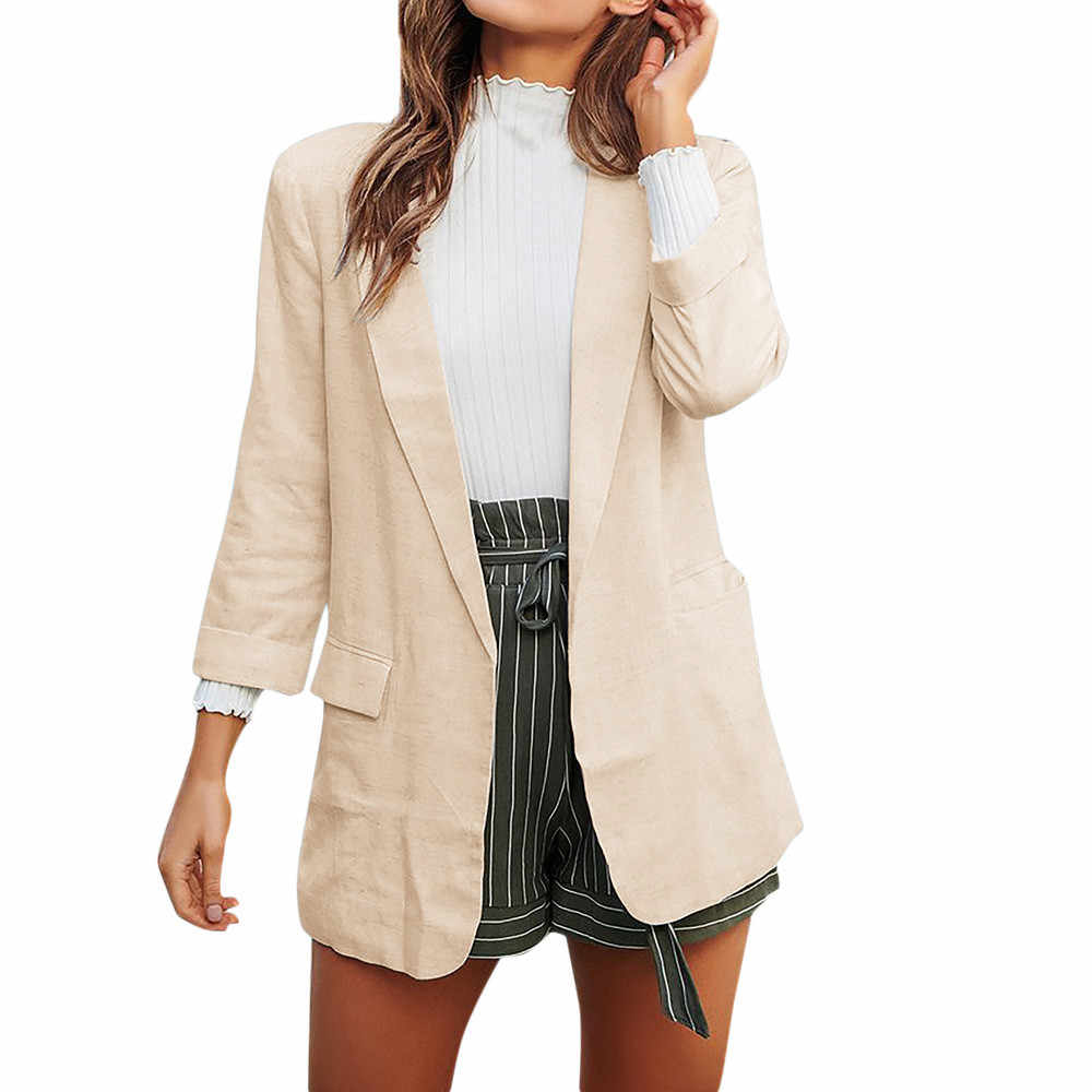 f4cdf93cd6 Women Casual Work Suit Long Sleeve Loose Office Coat Jacket Blazer Jacket  Suits Female 2018 Fashion