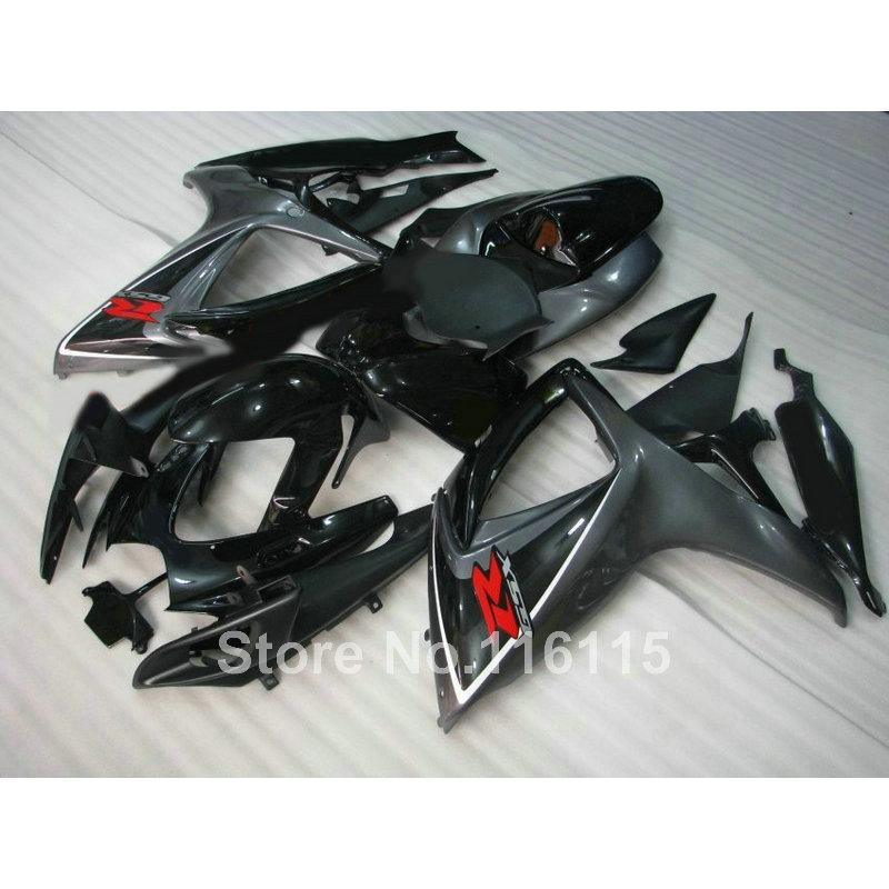 Набор форм для инъекций обтекатель для Suzuki GSXR 600/750 К6 К7 2006 2007 GSXR600 GSXR750 06 07 все черный обтекатели A489
