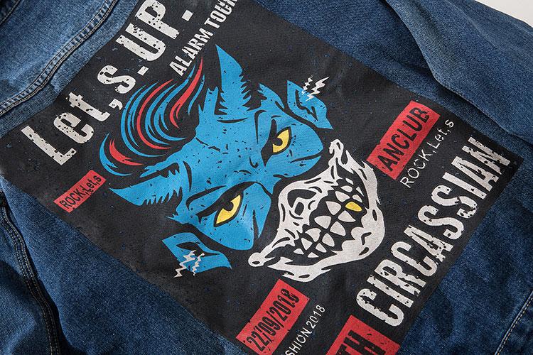 Printed Denim Jacket 10