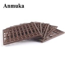 Anmuka 10Pcs/lot Durable Lightweight Hair Rig Boilie Stop Bait Carp Fishing Tackle Accessory Brown drill stops Boilie v stopper