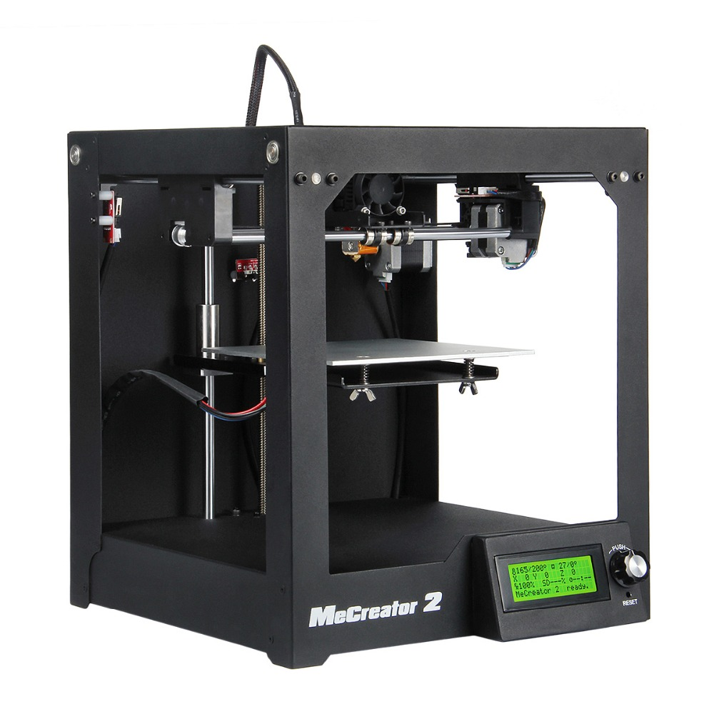 Full Assembled Desktop 3D Printer Me Creator 2 160x160x160mm High quality Steel Chasis Wholesale