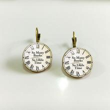 2017 NEW Arrival 18mm old metal French Hook Earring Steampunk Watches Clock Jewelry Women Earring Cool Style Gift