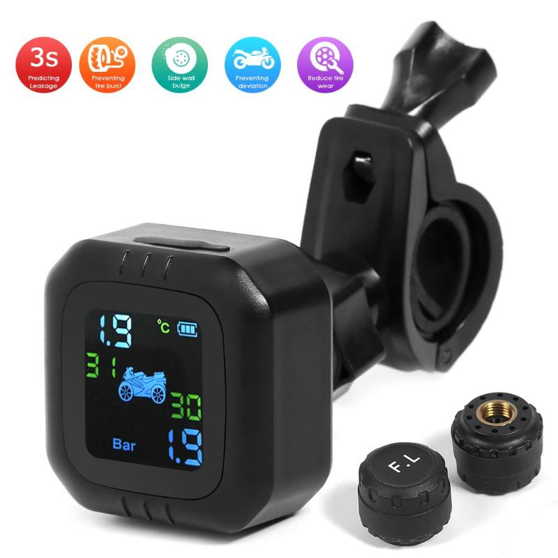 DC 5V Motorcycle TPMS Wireless Smart Tire Pressure Monitoring System Security Alarm Systems External Tyre Pressure Sensor