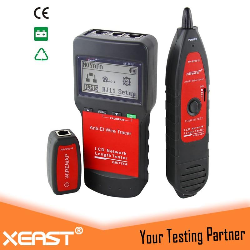 Original LCD LAN Tester Network telephone cable tester RJ45 Cable Tester Ethernet Cable Tracker NOYAFA NF-8200 теплый пол теплолюкс profimat160 10 0