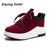 Xiaying Smile Women Shoes New Style Heel High Platform Fashion Casual Shoes Ladies Classica Height Increasing Antiskid Shoes