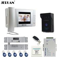 "JERUAN Home wired 4.3"" LCD Video Door Phone intercom System Kit +700TVL RFID Waterproof IR Night vision Camera tamper alarm"