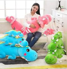 WYZHY Down jacket, dinosaur doll, pillow, plush toy sofa bedside ornaments, send friends gifts 100cm