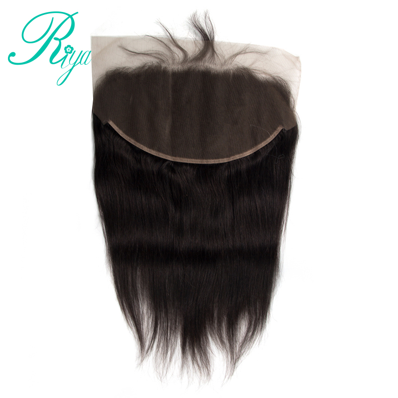 Pre- Plucked Brazilian Straigt Human Hair 13x6 Lace Frontal With Baby Hair Natural Hairline Bleached Knots With 8-22 inch