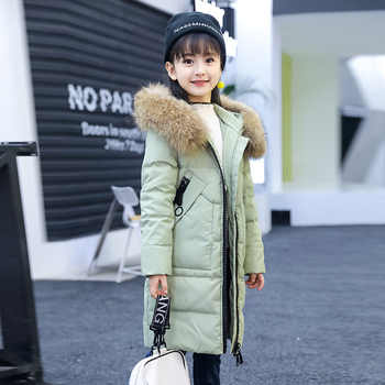 Girls Winter Coat Made of Duck Down Hooded Long Jackets Teenage Girls Winter Clothing 6 8 9 1 0 12 14 years Children Outerwear - DISCOUNT ITEM  48 OFF Mother & Kids