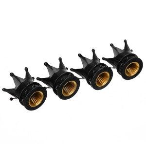 Image 3 - 4Pcs/set Universal Black Crown Style Car Tire Air Valve Stem Cap Auto Motorcycle Wheel Tyre Air Valve Dust Covers Accessories