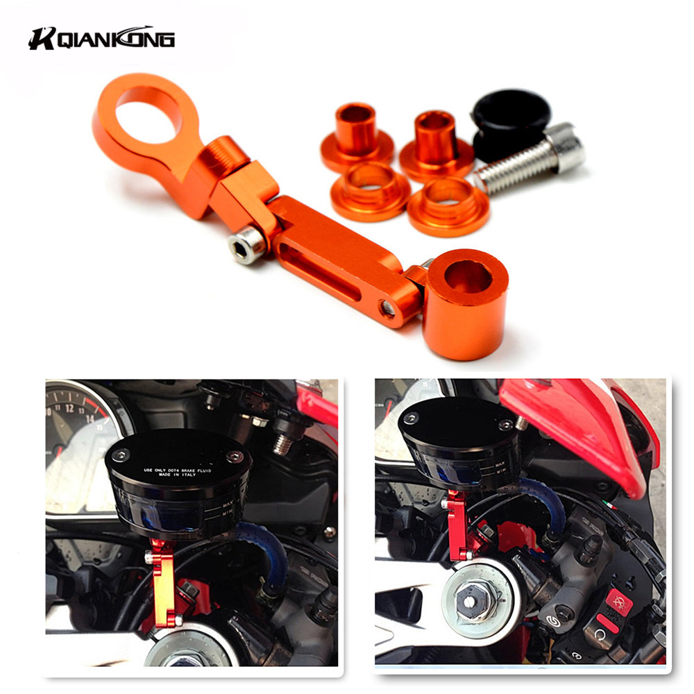 Universal motorcycle Brake clutch pump fluid RESERVOIR tank bracket For Kawasaki Z250 Z 250 z250 z 250 2013-2014 Z1000 all year universal motorcycle brake fluid reservoir clutch tank oil fluid cup for mt 09 grips yamaha fz1 kawasaki z1000 honda steed bone