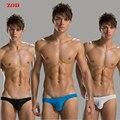 3 pçs/lote Mens briefs underwear Sexy slim Alta elástica Sem Costura Confortável macio