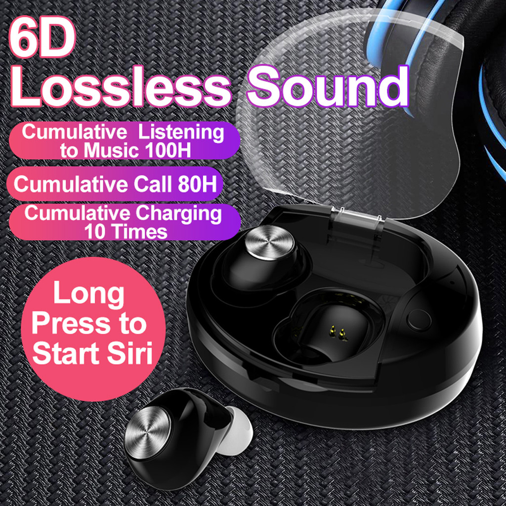 Mini True Wireless Bluetooth 5.0 Earbuds Headset In Ear Stereo Headphones for Phone Xiaomi with Microphone for iPhone 5s iPhone