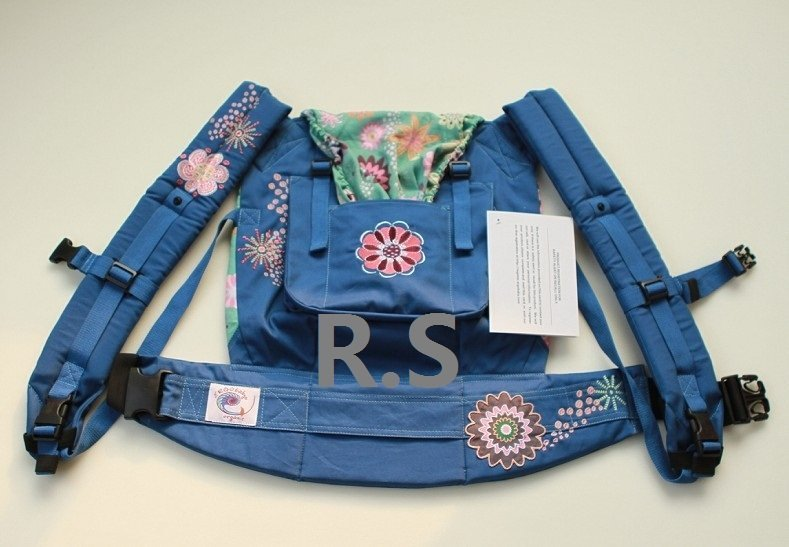 Best Selling Ergo Baby Organic Carrier Blue Embroidery