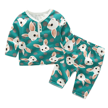 YiErYing Newborns Clothes Sets Spring Autumn 2Pcs Rabbit Long Sleeve Cotton Coat+Pants For Baby Boy Girl Clothing Suits