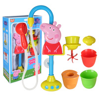 Peppa Pig Toys Bathing bathroom Nozzle Shower Dad Mom George Piggy Action Figure Original Pelucia Anime Set Toys for Children