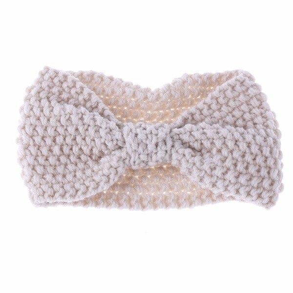 1 unid moda niñas Crochet anudada turbante diadema de punto para las ...