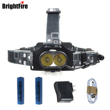 Professional 3 Mode Cree XM-L T6 USB Rechargeable Headlight 3800LM 18650 Battery LED Headlamp Fishing Camping Light Lantern