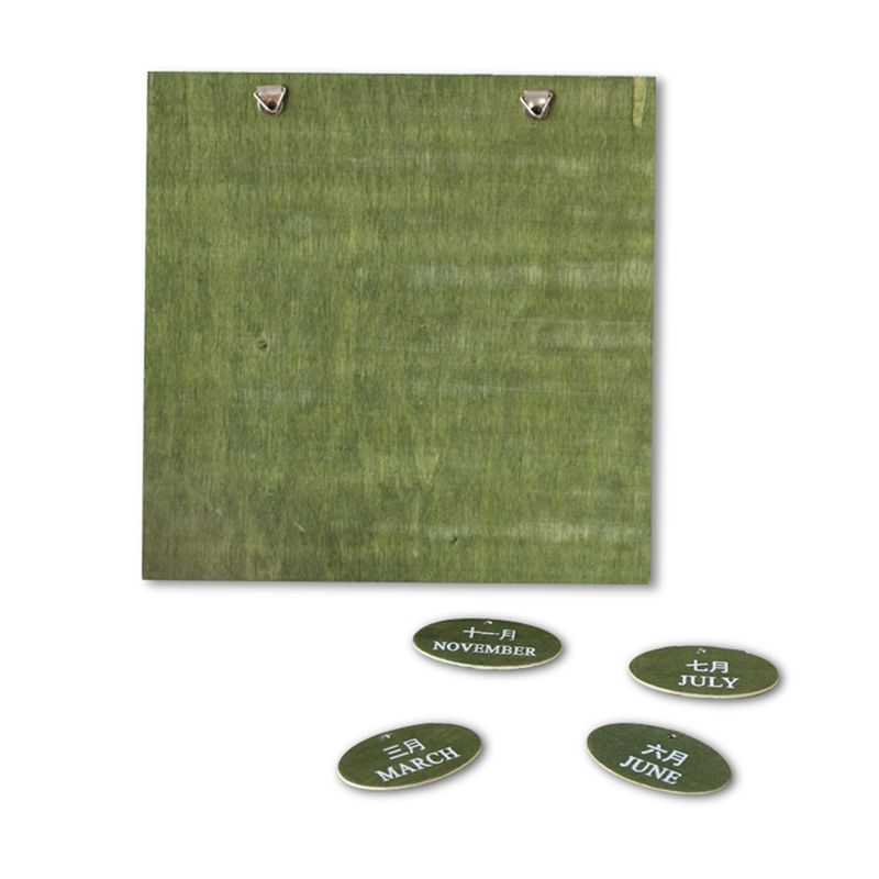 Retro Rustic Creative Bilingual Furniture Mediterranean Can Hang Wood Manual Calendar Calendar Crafts