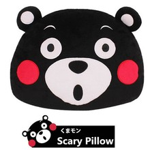 2016 New Japan Mascot Kumamon Bear Plush Pillow Toys Anime Adorable Cartoon Black Bear Head Soft Stuffed Plush Dolls Baby Gifts