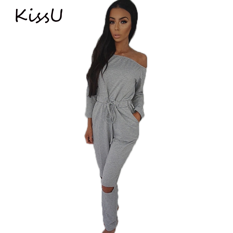 Ailunsnika Women Casual Overall Romper Playsuit Short Sleeve Belted Wide Leg Long Pant Jumpsuits