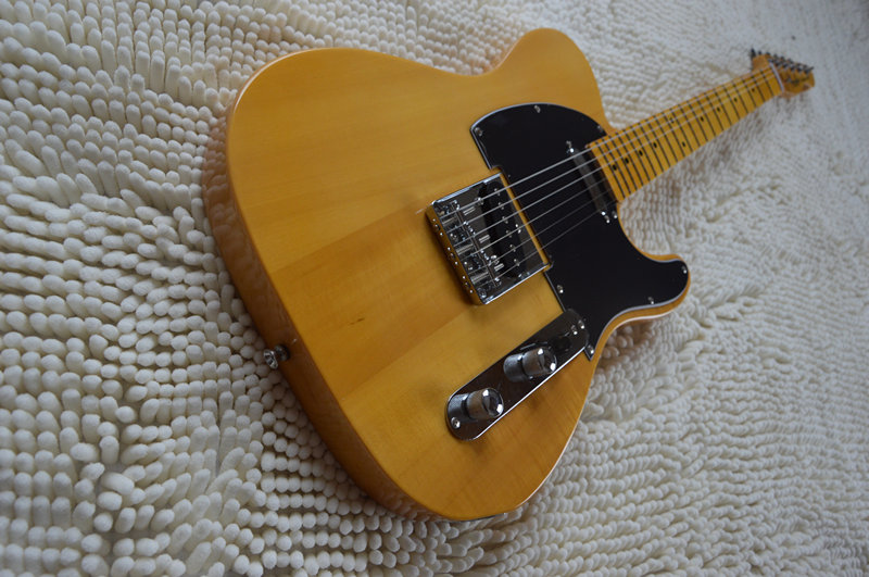 Free shipping Telec electric guitar, natural TL guitar, maple body and main bearing guitars, OEM guitarra eletrica telecaster vicers guitars china maple fingerboard t ele caster electric guitar in stock free shipping