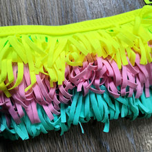 8-16 Years Teenager Girls Swimsuit Kids Swimwear Tassel Big Girl Bikini Halter Top Bathing Suit Fringe Children Girl Swim Wear