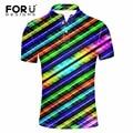 FORUDESIGNS Men Polo Shirt Men's Short Sleeved Summer Casual Polo Ralphmen Tommis Fashion 3D Printed Camisa Polo Masculina Polos
