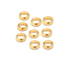 Fabrication de bijoux Bracelets porte-bonheur, 20 pièces en acier inoxydable, or, 6mm/8mm, perles d'espacement, ample, grand trou, bricolage