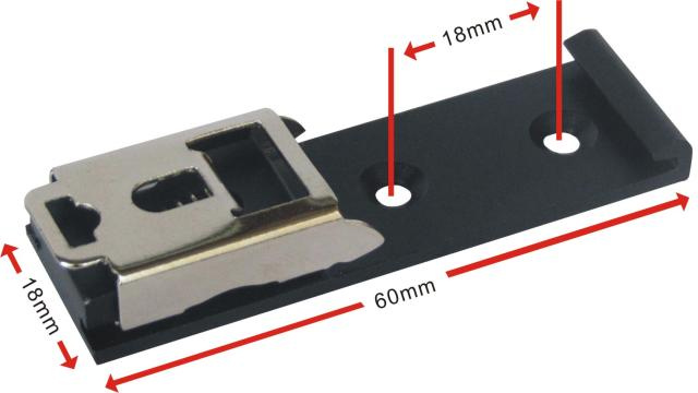 DIN 35mm Rail Fixed Bracket Mounting To The 35 DIN Rail Directly
