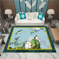Elegant Chinese Oriental Charm Modern Living Room 3D Carpet Sofa Coffee Table Mat Bedroom Bedside Rectangular Room Home Accessor