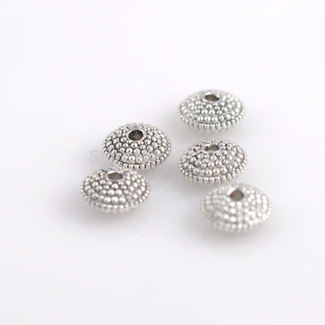 supplies alloy hot sell jewelry spacer silver wholesale round item metal antique spacers making beads and