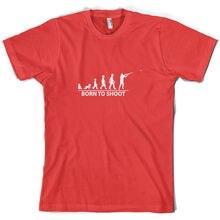 Born To Shoot (Clay Pigeon) - Mens T-Shirt -  Skeet - Shooting Print T Shirt Mens Short Sleeve Hot Tops Tshirt Homme цена