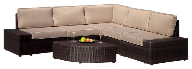 New Style Outdoor Wicker Furniture Corner Sectional Sofa Seating Set