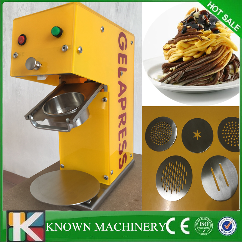 Stainless steel Ice Cream Noodle Maker Spaghetti gelato forming noodel shapes ice cream making machine free shipping gelato ice cream fruit mixer fruit gelato making machine gelato fruit