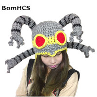 BomHCS Fajne Śmieszne Prezent Octopus Beanie Handmade Dzianiny Kapelusz mężczyzna Zima Ciepła Czapka