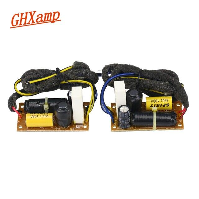 GHXAMP altavoz de graves Crossover de 2 vías, 40W, divisor bidireccional de 3,2 KHz para estantería de 4 5,5 pulgadas, divisor de frecuencia de altavoz, 2 uds.