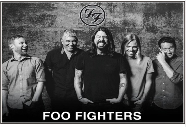 Custom Canvas Wall Decoration Dave Grohl Poster Foo Fighters Wall Stickers  Rock Band FF Wallpaper Office Sticker Mural #2173#