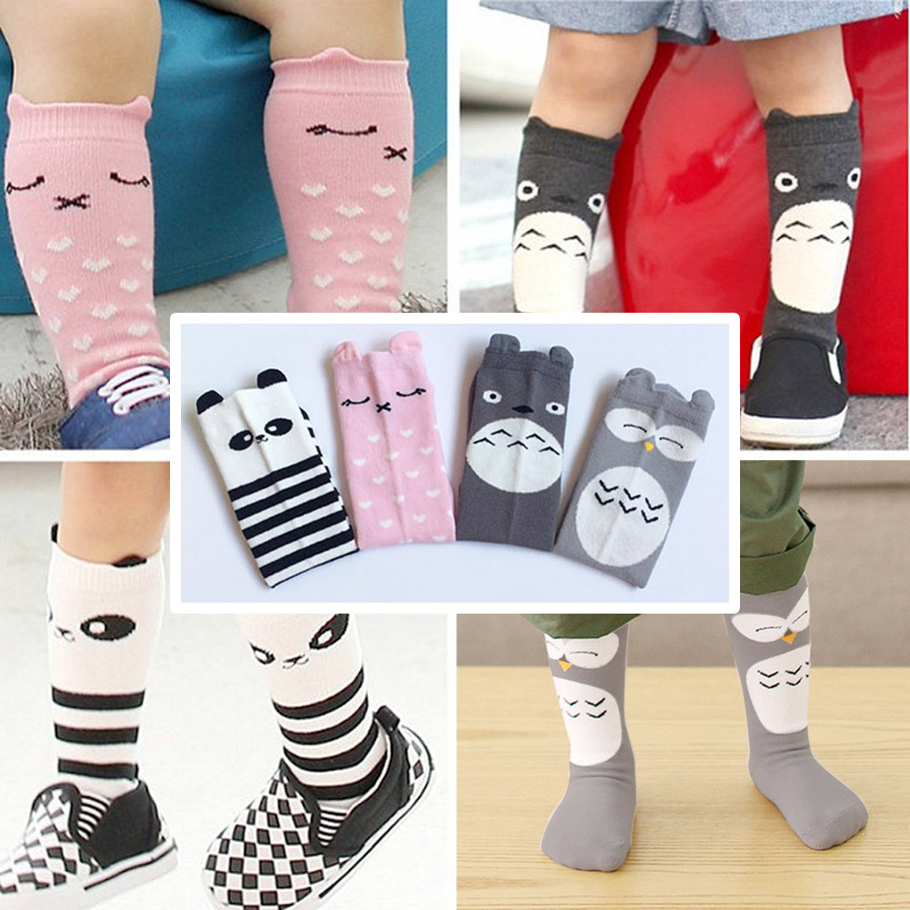 Baby Cotton Long Socks Cartoon Knee Toddler Kids Boys Girls Christmas Festival Baby Gift Long Tube Leg Warm sock hockey sock
