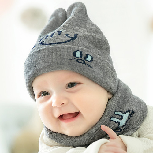ACHIULING 1 set Winter Baby Hat for Infant Boys Girls Children Fashion Kids Spring Warmer Cartoon Style Heavy hair Knitted Caps autumn winter baby hats new fashion children warm ball hat double color boys and girls cotton caps beanies baby knitted hat