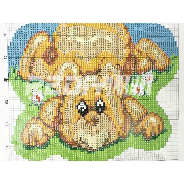 래치 후크 러그 키트 만화 수줍은 곰 diy 바느질 작업 미완성 된 러그 원사 쿠션 매트 자수 카펫 깔개 바느질 작업-에서자물쇠 고리부터 홈 & 가든 의  그룹 3