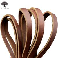 Passion Junetree Cowhide Leather COW SKINS Thick Genuine Leather Strip Width 10mm Length 200cm