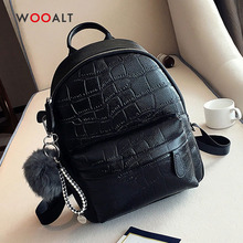 купить Mini Backpacks for Girls Teenage School Bags Women Cute PU Leather Travel Backpacks Casual Daypack with Hairball Small Backpacks по цене 1732.49 рублей