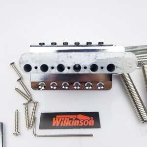 Image 4 - جيتار كهربائي من نوع ST بتصميم كلاسيكي من ويلكنسون مع نظام تريمولو ، جيتار من الكروم الفضي لجيتار سترات WOV01
