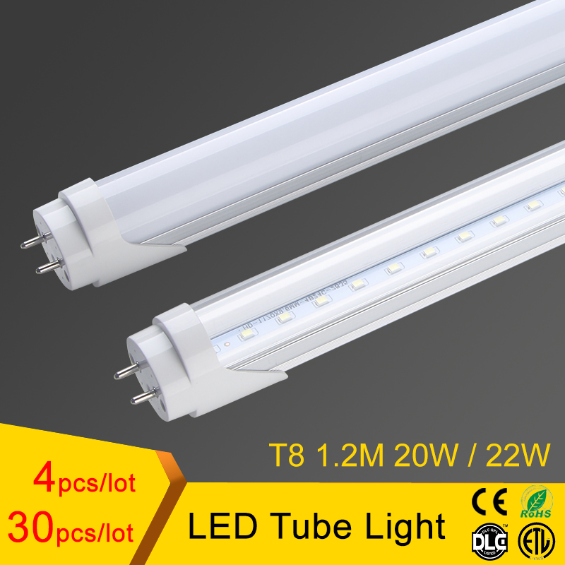 T8 led tube light 1200mm 20w 22w 4ft, smd2835 led fluorescent tube 110v 220v, FEDEX Free Shipping led tube t8 цена